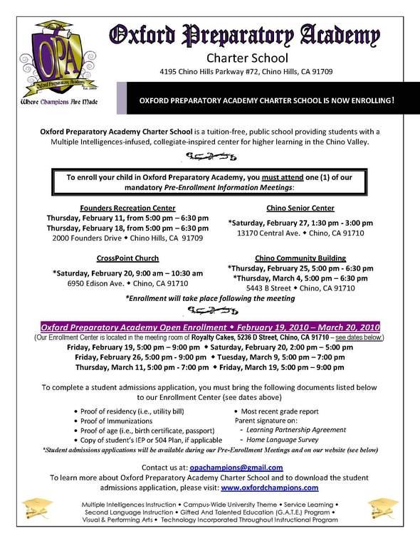 enrollment flier - ENGLISH 2-10-10