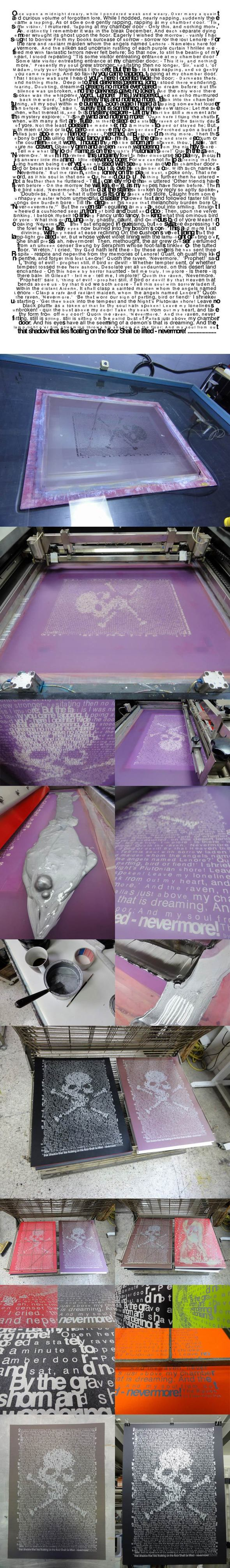 raven silkscreen print by tind-d31bm1s