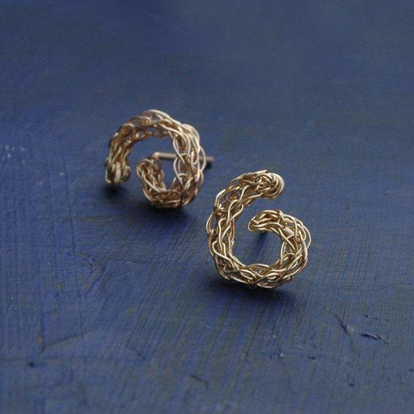 mini spiral earrings