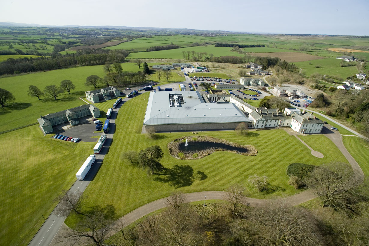M-Sport aerial image showing workshop