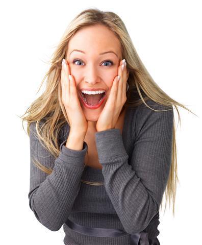 woman - surprised! i won! (Small)