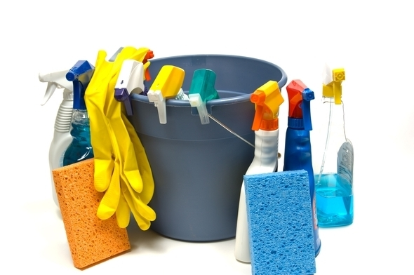 Cleaning-supplies-with-bucket