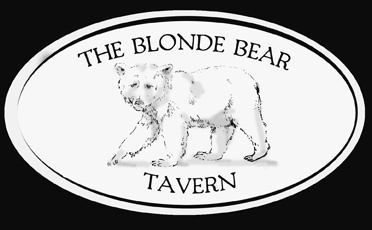 Blonde Bear sign copy