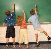 kids at blackboard