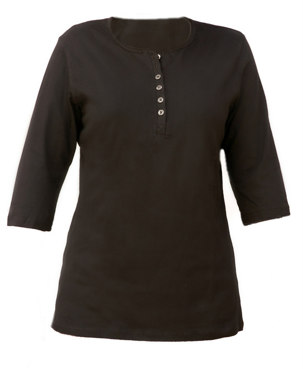 Henley shirt 3-4 sleeve 1242