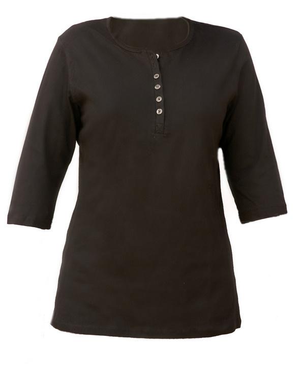 Henley shirt 3-4 sleeve 1242