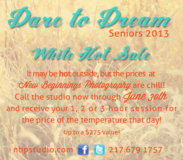 New Beginnings Photography Senior Sale