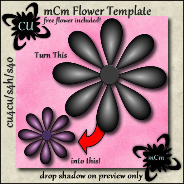 mCm-Flower Template-preview