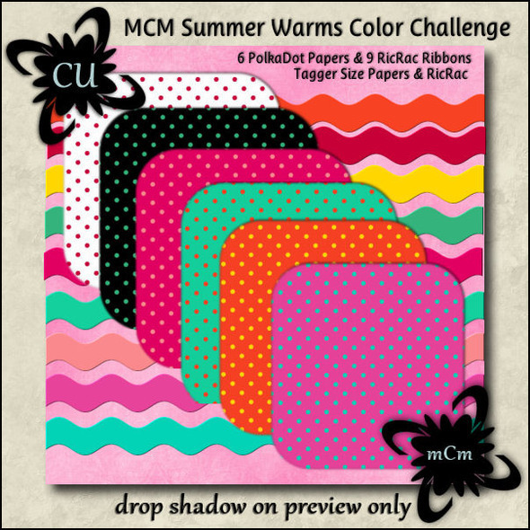 MCM Friday Color Challenge Summer Warms Paper Preview