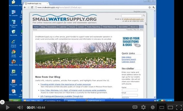 Make the Internet Work for You - How to Use SmallWaterSupply.org - YouTube