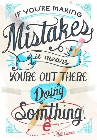making mistakes kind over matter