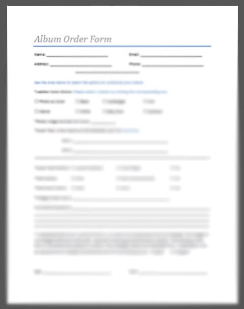 album order form