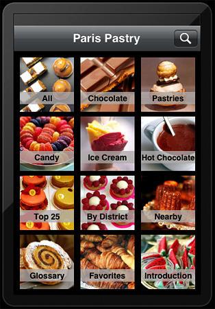 paris pastry app page