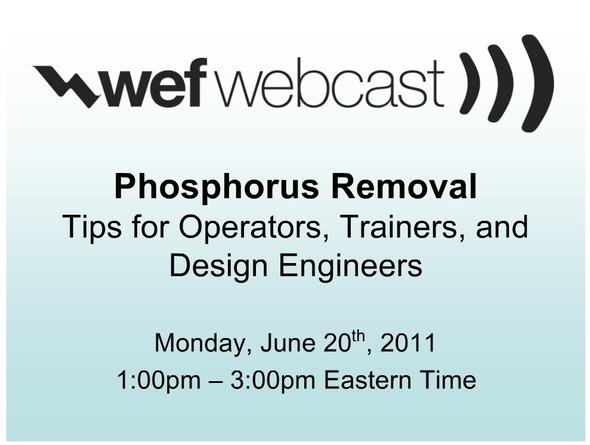 Phosphorus Removal Webcast