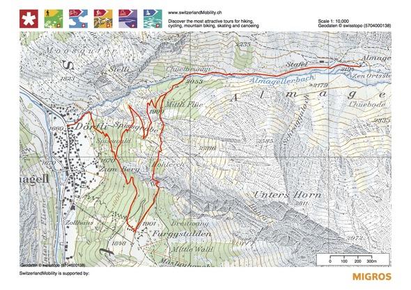 map Saas Amagell CH