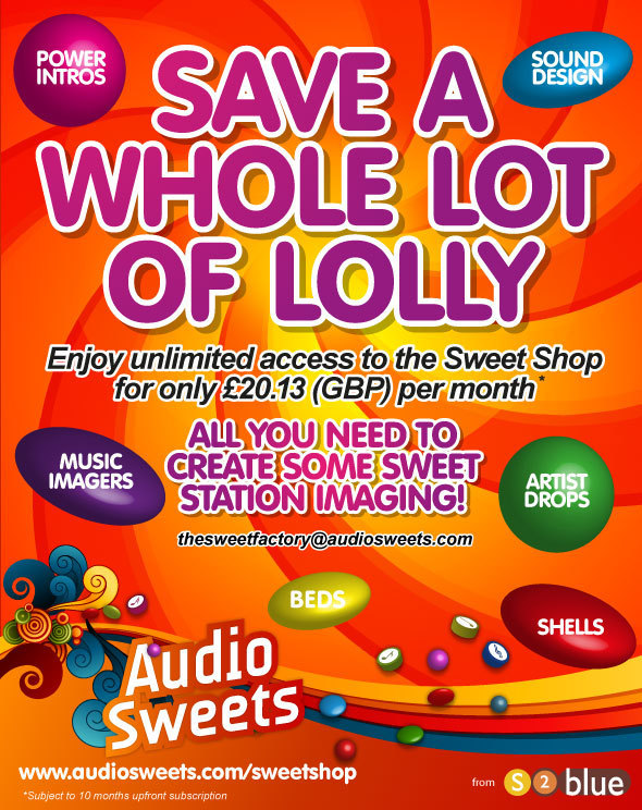 Save some lolly - AudioSweets 2013 offer (January 2013)