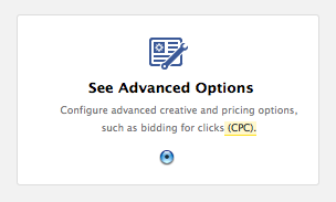 Advanced Pricing Option at Top of Page
