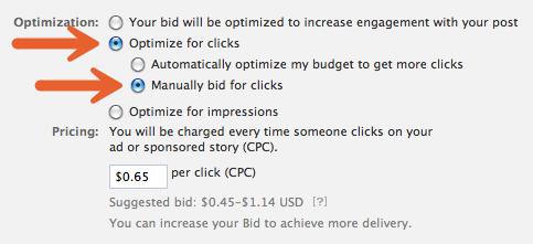 Manual Cost-Per-Click Payment Option