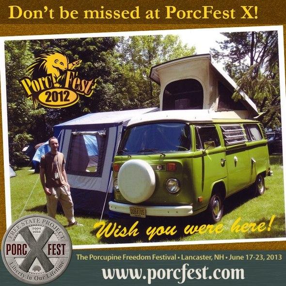 porcfest postcard