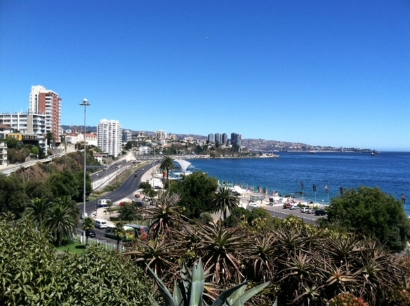 view of beach and Valparaiso