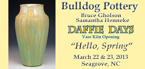 Bulldog Pottery Kiln Opening March 22   23 Seagrove  NC