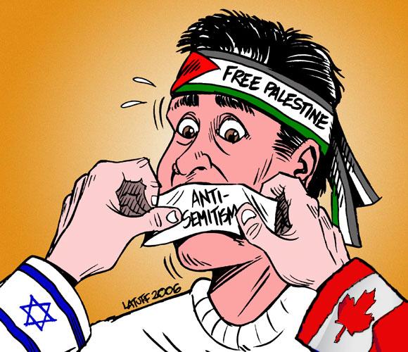 latuff anti semitism Canada