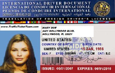 INTERNATIONAL-TRAFFIC TICKET FLORIDA