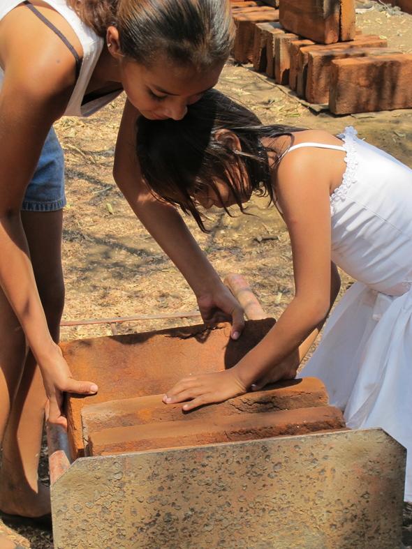 Chac girls and bricks