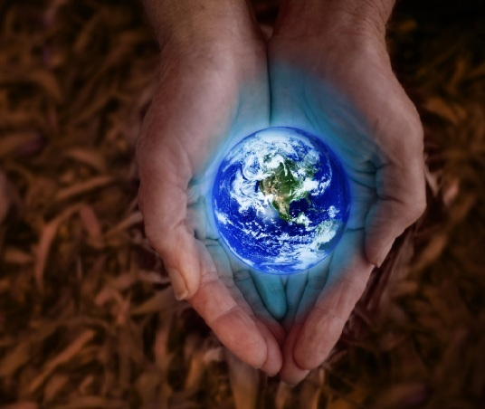 earth in hands small