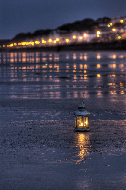 Beach Lantern Photo by http-::www.flickr.com:photos:kieronmiddleton: