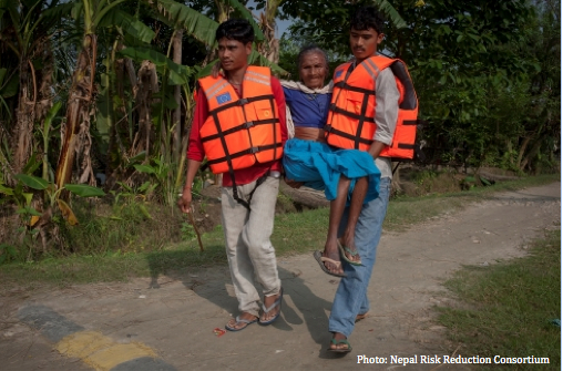 Involving people with Disabilities in DRR Drill in Nepal