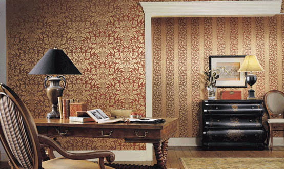 Winfield Thybony Wallpaper Earth Tones Interior Decor