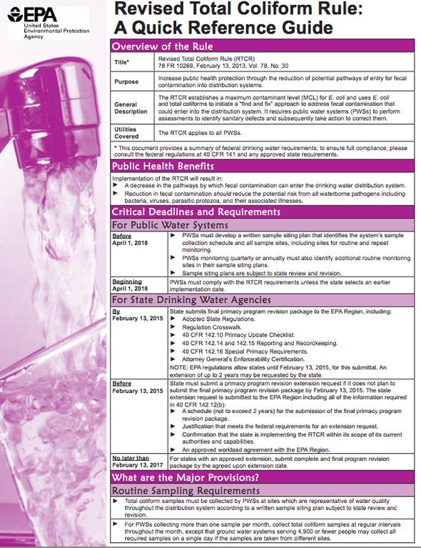 water.epa.gov lawsregs rulesregs sdwa tcr upload epa815b13001.pdf