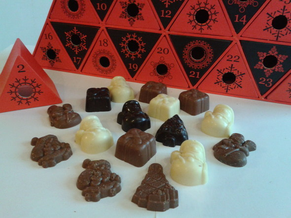 Chocolates made for Advent Calendars with Le Salon Du Chocolat