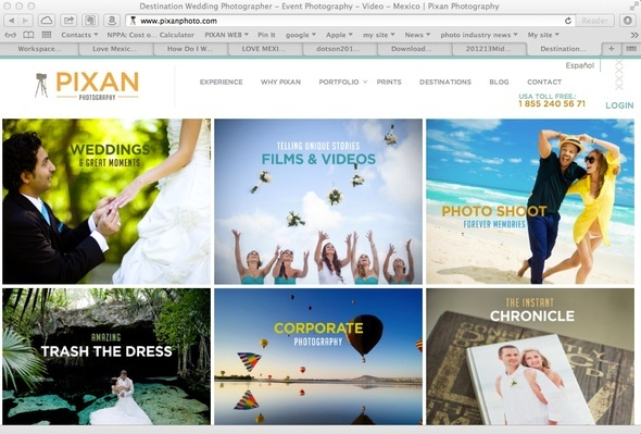 Pixan Photography website