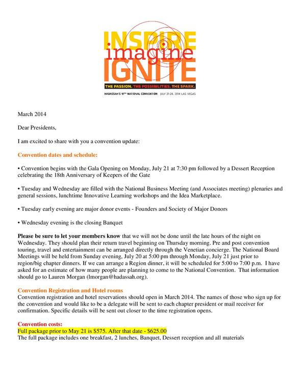 Convention Update Feb 2014-001