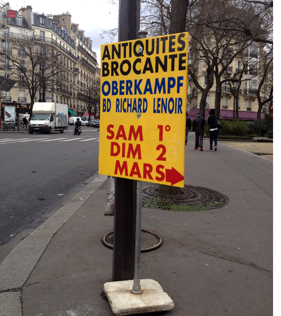 brocante sign