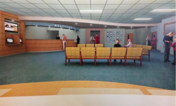 Reception area rendering