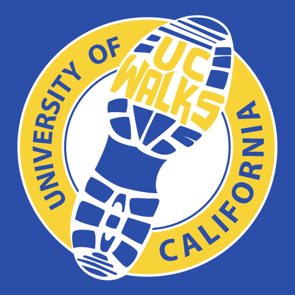 UC walks logo blue bg
