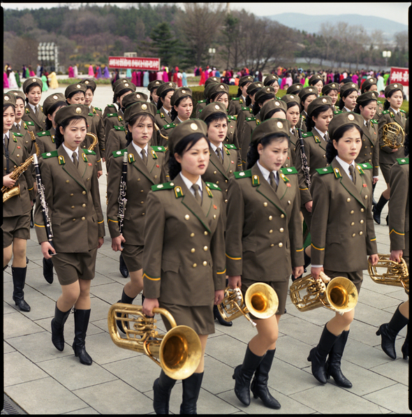 Watanabe Hiroshi Female Army Band  Grand Monument on Mansu Hill  North Korea Ideology in Paradise 2006