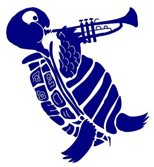 Trumpet tortoise stencil