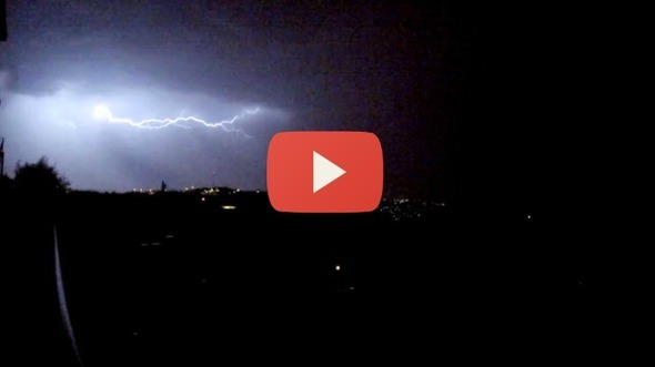 Stunning Lightning Show Over the Judean Hills