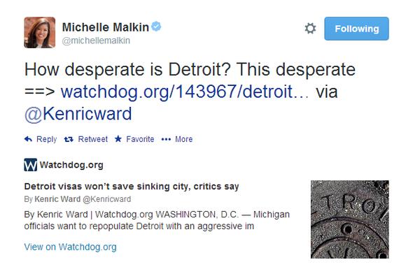 Michelle Malkin Tweet 051314 01