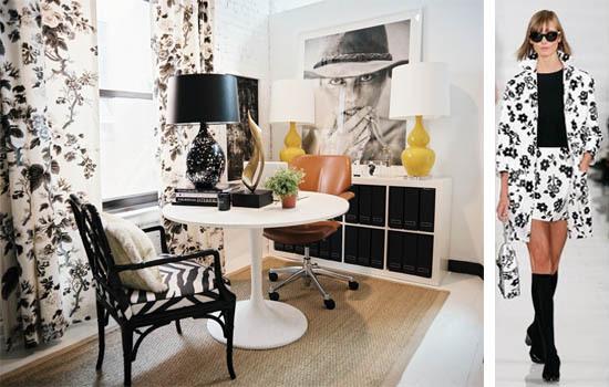 Black and White Chintz Interior Decor