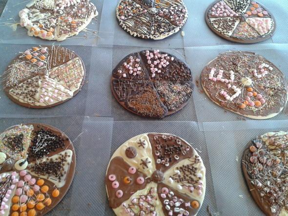 Chocolate Pizza Party at Le Salon Du Chocolat