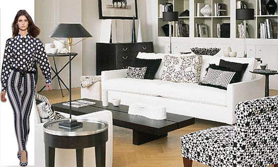 Modern Black and White Bedroom Furniture  Layered Look