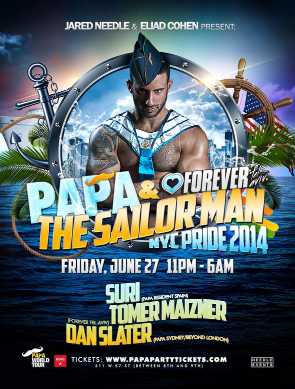PAPA NYC Pride Flyer