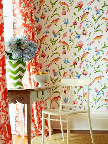 Dana Gibson Stroheim Bird Wallpaper Decor