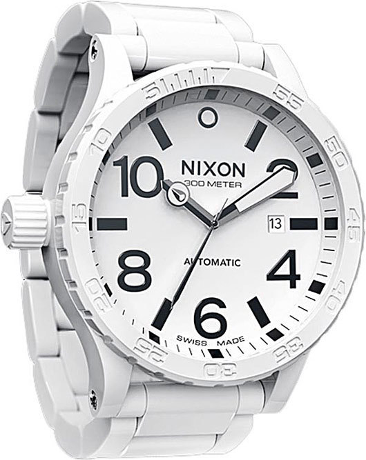 nixon ceramic 51-30 watch all white