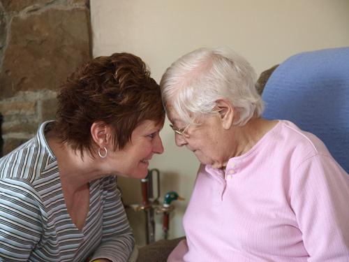 Caring for senior citizen image